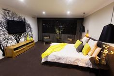 How good is this! This bedroom is part of our Studio Platinum display home. Only at Home Group WA.