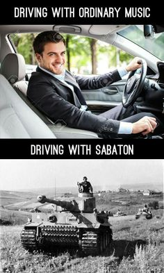Just discovered Sabaton that shit is fking awesome! Funny Car Memes, Funny Cartoons, Haha Funny, Hilarious, Best Funny Pictures, Funny Photos, Funny Images, Military Jokes, Metal Meme