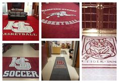 Custom locker room logo rugs make an impact on your players and recruits while branding your athletic program. It is your attention to detail that will ultimately decide the perceived quality and value of your program in the mind of your recruits and supporters. Contact us today and find out how you can take your athletic program to the next level like Hampden-Sydney College has done with their H-SC locker room logo rugs. #hmpdensydney #hampdensydneycollege