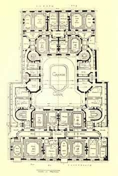 Floor plan of an apartment building on Rue du Luxembourg, Paris