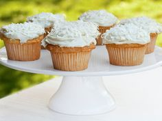 Coconut Cupcakes With Cream Cheese Icing recipe from Ina Garten via Food Network