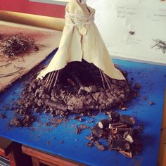 Mesolithic Stone Age house built by Year 6!