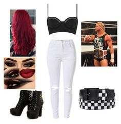 """Ringside for Dolph Ziggler"" by veronicabrooks1 ❤ liked on Polyvore featuring Topshop"