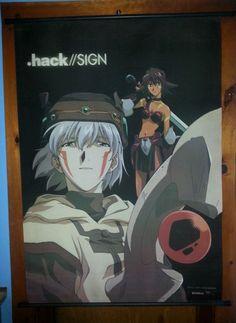 hack//sign  *** Tsukasa and Mimiru *** ~~BANDAI ~~ Fabric Wall Scroll ~~ New