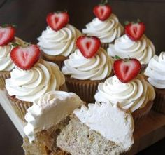Strawberry cake - cake boss recipe!! Our favorite.