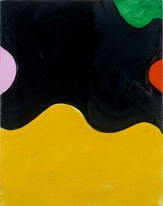 MARY HEILMANN Black Dahlia III 2001 Oil on canvas 15 x 11 3/4 inches 38.1 x 29.8 cm Signed, titled and dated verso