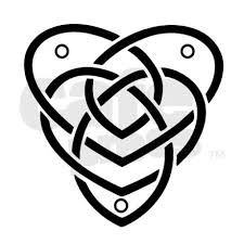 Celtic motherhood knot - add one dot for each child (birthstones?)