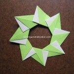 Origami Instruction 8 Units Mandala