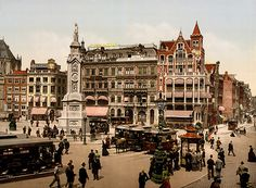 Dam square, Amsterdam, North Holland, the Netherlands, ca. 1895 by trialsanderrors, via Flickr