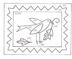 Folk Art Crow - free Punch Needle pattern from Create and Decorate