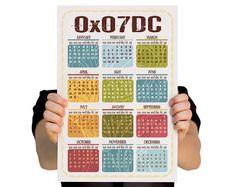 Hexadecimal calendar.