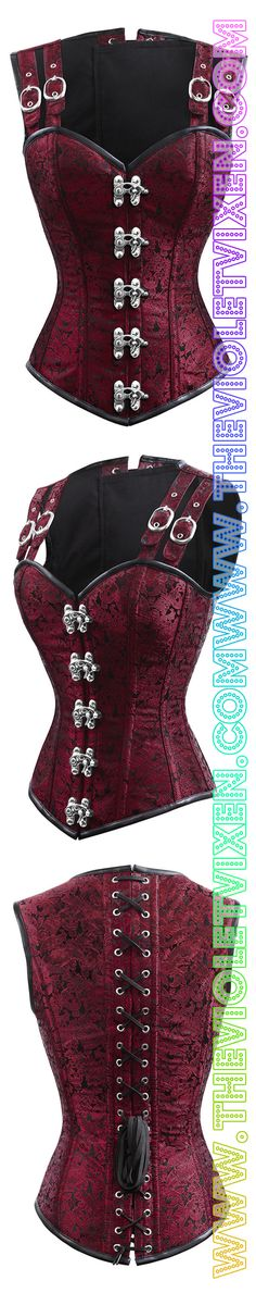Love this corset!! Gorgeous red, overbust, authentic, great for slimming down our sexy Vixens. The Violet Vixen - Double-Barreled Tinker Seering Scarlet Corset, $140.00 (http://thevioletvixen.com/corsets/double-barreled-tinker-seering-scarlet-corset/) #steampunkfashion,