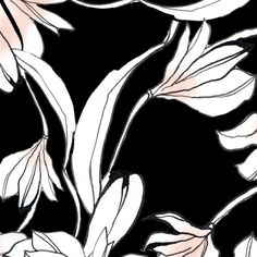 Varios floral designs, alloverprints hand painted designs aquarell, ink, graphite and colored pencils,