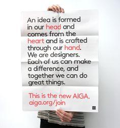 AIGA New Membership Campaign by TODA, via Behance