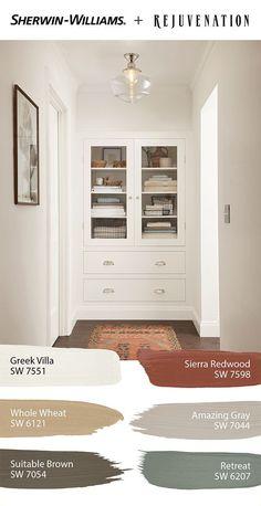 Paint Colors For Home, Indoor Paint, Interior Paint Colors, House Design, Greek Villas, Bathroom Decor Apartment, New Homes, House Colors, Sherwin Williams Paint Colors