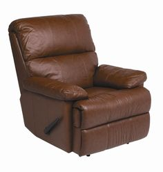 Lazyboy Style Chestnut Leather Recliner by Stanley Chair