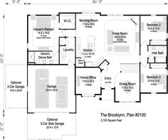 The Brooklynn, Plan Plan, Mukwonago WI Home Office Bedroom, Garage Bedroom, Future House, My House, Thing 1, 3 Car Garage, Find Homes For Sale, Great Rooms, Home And Family