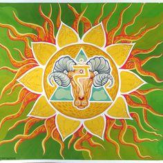 Solar Plexus Chakra, Plexus Products, Moose Art, Mandala, Painting, Animals, Animaux, Painting Art, Animal