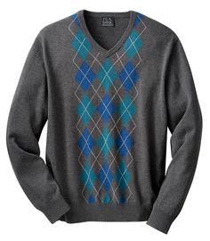 Cotton Sweater Argle Vest