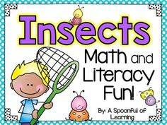This unit is FULL of math, literacy, and writing activities that will have your students learning all about different insects! There are crafts and anchor charts too! This unit has lots of different activities for you to do throughout a 2 week period.