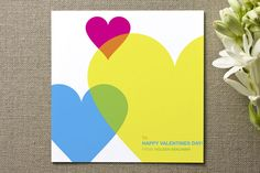 Modern Hearts Valentine's Day Cards by Portia Monb... | Minted