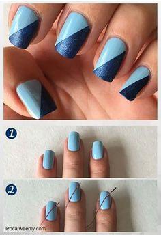 black and blue matte nails  matte nails design claw