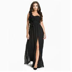 Sexy One-shoulder Backless Floor-length Chiffon Evening Dress