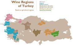 Wines of Turkey map Wine Drinks, Cocktail Drinks, Alcoholic Drinks, Wine Vine, Wine Chart, Wine Education, Vitis Vinifera, Wine And Beer, Root Beer