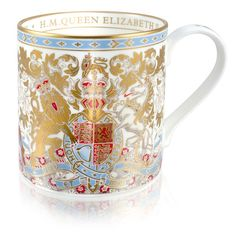 Buy Buckingham Palace Longest Reigning Monarch Commemorative Mug Royal Collection Shop, Royal Tea Parties, British Gifts, English China, 22 Carat Gold, Bow Bracelet, Book Jewelry, Her Majesty The Queen, China Patterns