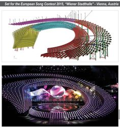 The stage of the Eurovision Song Contest 2015. Software: Scia Engineer. Engineering office Voskuijl (NL)