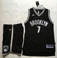 ae2578bbc28 Nets  7 Jeremy Lin Black A Set Stitched NBA Jersey Nets Jersey