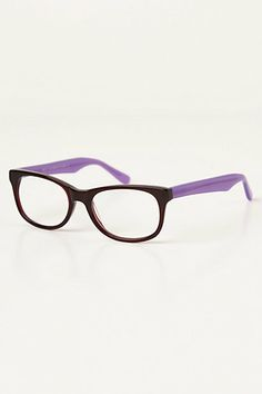 Squared Tort Reading Glasses #anthropologie purple is my color I love these frames