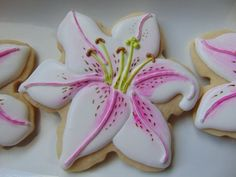 Lily Cookies by TreatsbuyTerri on Etsy