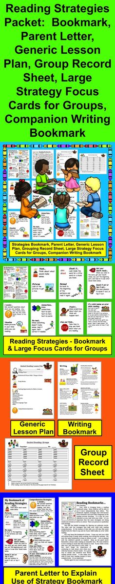 $ Reading Strategies Packet and Writing, Too!  For Teachers… Student and Parent Components as well… 14 page full color download.  Reading Strategies for Word Recognition, Comprehension and Early Writing…