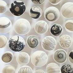 Pilar Rojas. Porcelain bowls