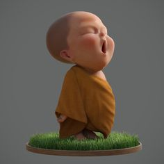 Great series of illustrations by Brazilian artist, character designer and animator Guzz Soares. More illustrations via Behance 3d Model Character, Character Modeling, Character Art, Zbrush Character, Character Concept, Baby Buddha, Little Buddha, Buddha Decor, Buddha Art