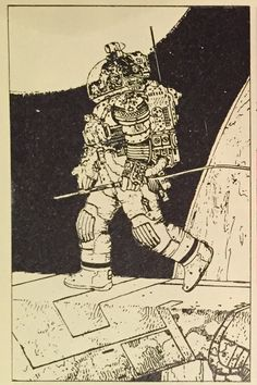 Moebius' concept illustrations for Alien, appearing in Heavy Metal, April 1979