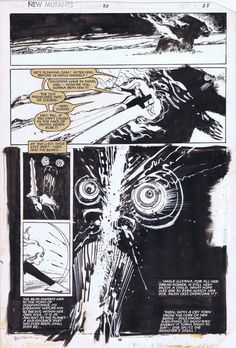 New Mutants #20 page 25 Demon Bear by Bill Sienkiewicz Comic Art