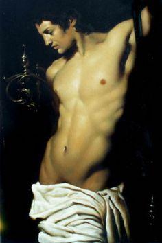 artqueer: Roberto Ferri: Orfeo, Oil on canvas.