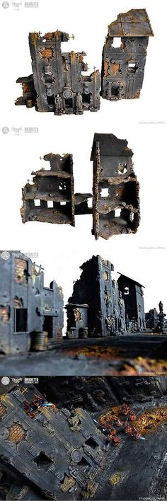 40K Terrain and Scenery 152940: Unique 2X Kings City Buildings Box Wh40k, Mordheim Terrain Commission 2016 -> BUY IT NOW ONLY: $95 on eBay!