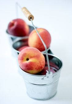 We've been drowning under peaches over here. They were good starting in June but they are just tremendous rig. Peach Mousse, Custard, Strawberry, Apple, Fruit, Vegetables, Desserts, Recipes, Peaches