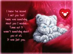 The second i met you