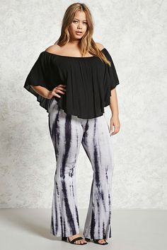 5d4a39ea089 Forever 21+ - A pair of stretch knit leggings featuring an allover tie-dye