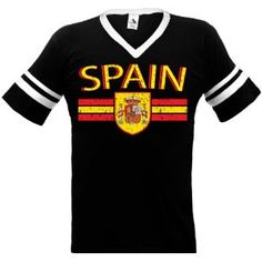 Spain Crest International Soccer Ringer T-shirt, Espana Soccer Mens Ringer T-shirt (Apparel)  http://macaronflavors.com/amazonimage.php?p=B003PV85SU  B003PV85SU