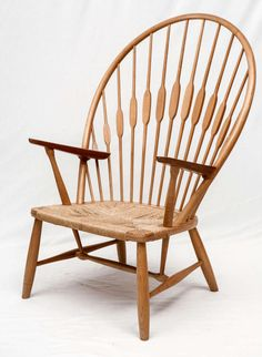 Hans Wegner Peacock Chair Designed in 1947 and Produced by Johannes Hansen. Chair is Signed with the Johannes Hansen signature. Store formerly known as ARTFUL DODGER INC Plywood Furniture, Danish Furniture, Scandinavian Furniture, Design Furniture, Chair Design, Modern Furniture, Scandinavian Interiors, White Interiors, Furniture Vintage