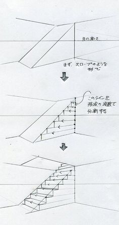 Zeichnen (Treppe) drawing for beginners drawing house architecture drawing Interior Architecture Drawing, Architecture Drawing Sketchbooks, Architecture Concept Drawings, Interior Design Sketches, Sketch Design, Indian Architecture, Landscape Architecture, Japanese Architecture, Futuristic Architecture