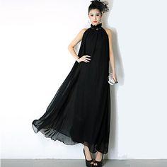 Vestido Maxi Elegante con Cinturón para Mujer - CLP $ 12.571