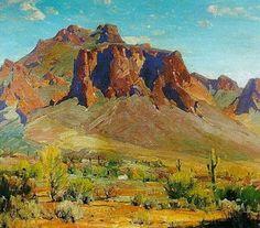 Bulwark of the Desert - Hanson Duvall Puthuff - oil