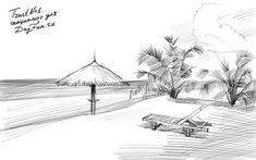 Как-нарисовать-пляж-карандашом-поэтапно-4