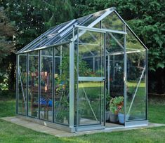 Evika Greenhouse 6 x 8 ft Aquarium Shop, Louvre Windows, Garden Site, Finish Strong, Roof Vents, Garden Fencing, Back Gardens, Greenhouses, Garden Supplies